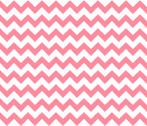 chevron_ salmon_pink fabric by walrus_studio on Spoonflower - custom fabric