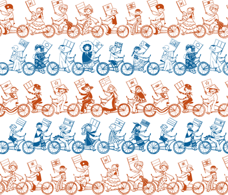 Pan-Tandem Bike Ride fabric by ceanirminger on Spoonflower - custom fabric