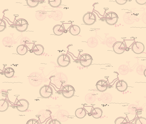 Vintage Bicycles fabric by pachichan on Spoonflower - custom fabric