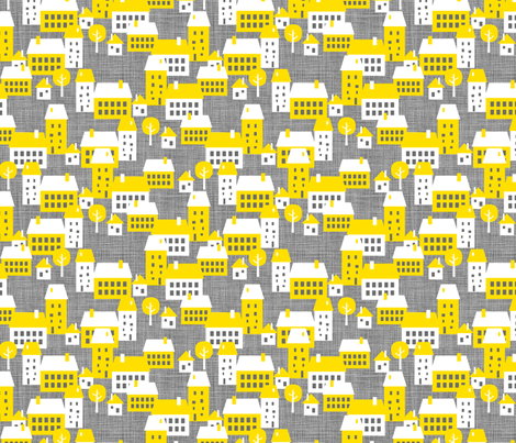 Le Village fabric by zesti on Spoonflower - custom fabric
