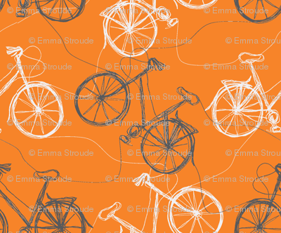 Tangerine thread bikes