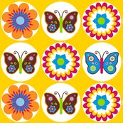 Rflowersbutterfliescirclesonyellow_shop_thumb