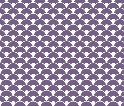 Purple sea fabric by wantit on Spoonflower - custom fabric