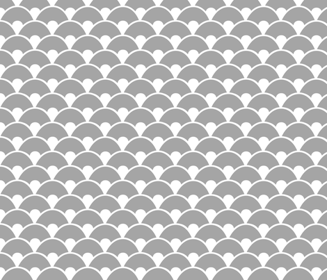 Grey sea fabric by wantit on Spoonflower - custom fabric