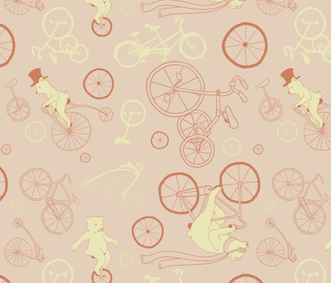 Bears_on_Bicycles fabric by angela_ethridge on Spoonflower - custom fabric