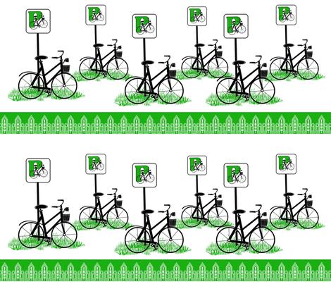 Bike Parking fabric by dancingwithfabric on Spoonflower - custom fabric