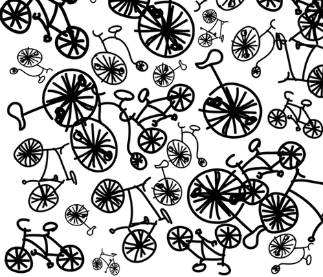 bicycle mess fabric by pernille_voss on Spoonflower - custom fabric