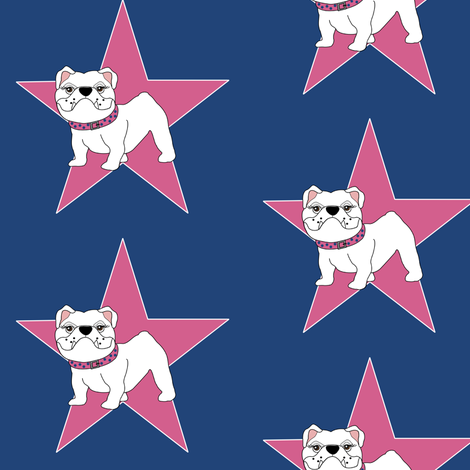 Victoria the Bulldog is a Star! fabric by missyq on Spoonflower - custom fabric