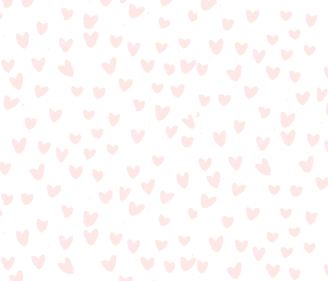 temporary BLUSH HEARTS by C'EST LA VIV fabric by cest_la_viv on Spoonflower - custom fabric