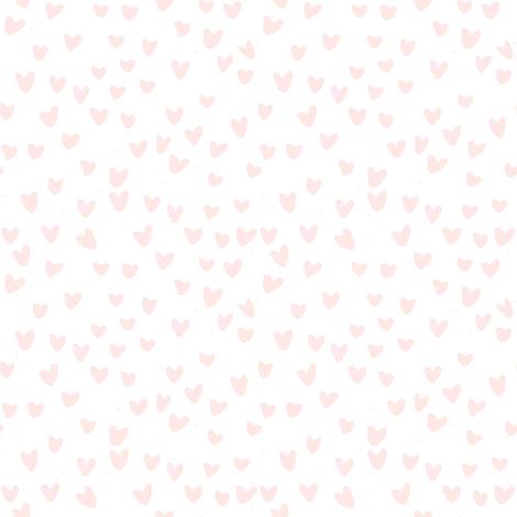 cestlaviv_MINI BLUSH HEARTS by C'EST LA VIV fabric by cest_la_viv on Spoonflower - custom fabric