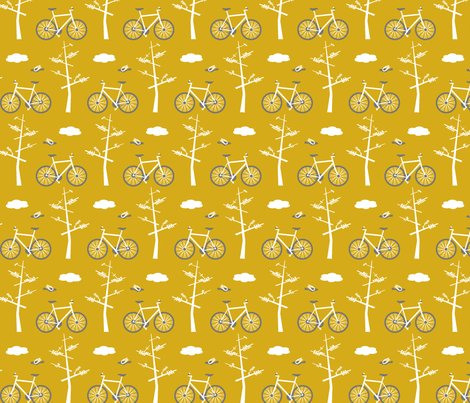 Bicycles in the Park fabric by lauriebaars on Spoonflower - custom fabric