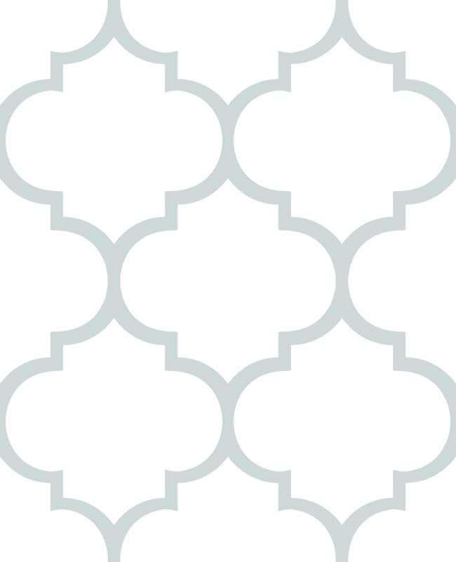 Fancy lattice gray outline Quatrefoil Shape Outline
