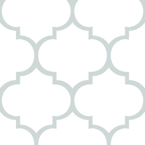 Fancy Lattice: Gray Outline fabric by frontdoor on Spoonflower - custom fabric