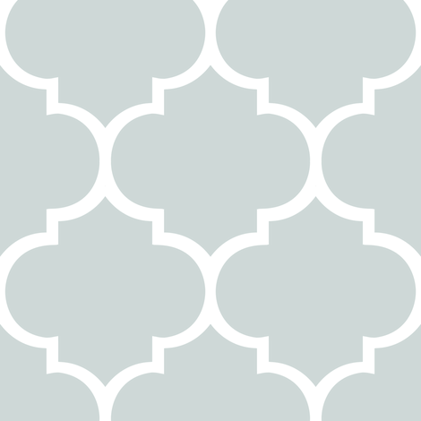 Fancy Lattice: White Outline & Gray fabric by frontdoor on Spoonflower - custom fabric