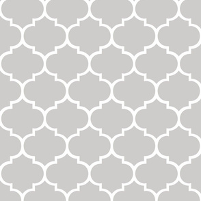 Fancy Lattice: White Outline & Gray