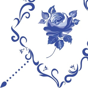 Dutch tile rose 1