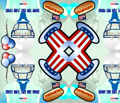 Free hot dogs fabric by _vandecraats on Spoonflower - custom fabric