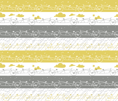 A BICYCLE BUILT FOR  fabric by theboerwar on Spoonflower - custom fabric
