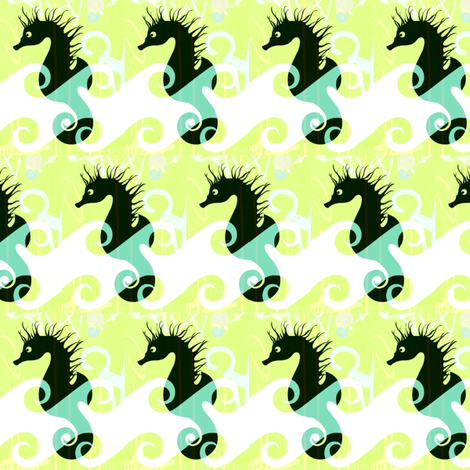 Seahorse Collection fabric by _vandecraats on Spoonflower - custom fabric