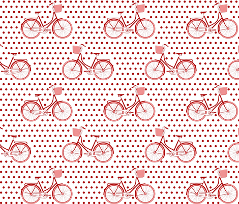 Bicycle_Polka fabric by mrshervi on Spoonflower - custom fabric