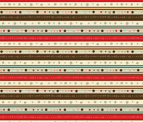 'Howdee Yul' stripe fabric by amel24 on Spoonflower - custom fabric