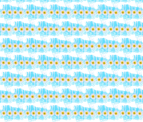 Springtime collection Primavera blue fabric by _vandecraats on Spoonflower - custom fabric