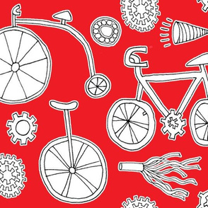 Bicycles on Red