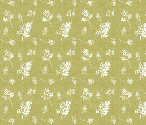 Natural_Dill fabric by designedtoat on Spoonflower - custom fabric