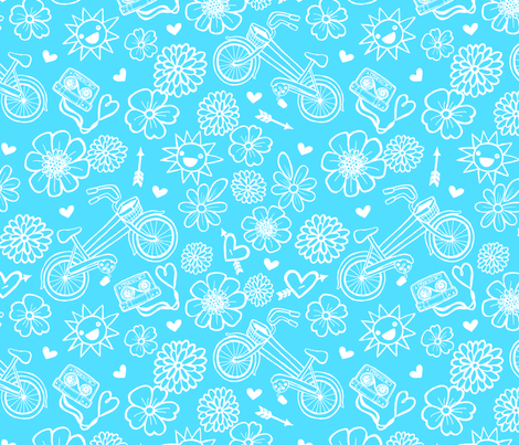 An Ode to My Bike-Sky Colorway fabric by my_zoetrope on Spoonflower - custom fabric