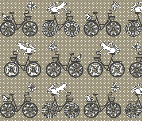 A Spring Ride fabric by kdl on Spoonflower - custom fabric