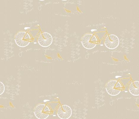 les oiseaux et une bicyclette