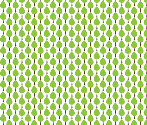 tree fabric by littlesproutbaby on Spoonflower - custom fabric