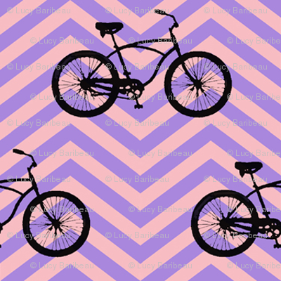 bicycles on chevrons