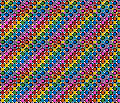 Rainbow Squares fabric by siya on Spoonflower - custom fabric