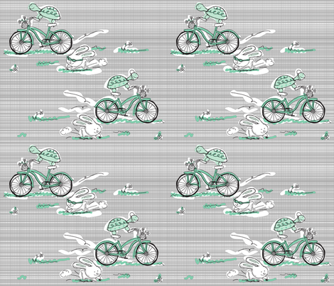 The Epic Race: Turtle vs Hare fabric by crissyrose on Spoonflower - custom fabric