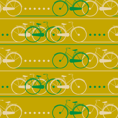 bike lane - yellow fabric by cheyanne_sammons on Spoonflower - custom fabric