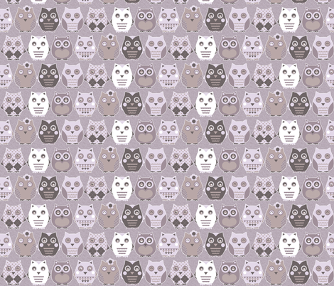 owls fabric by katarina on Spoonflower - custom fabric