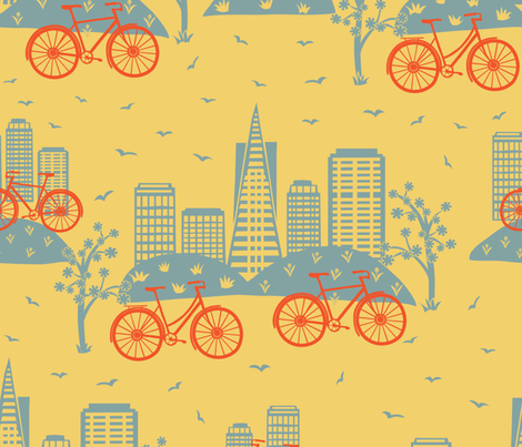 City Bikes fabric by gracedesign on Spoonflower - custom fabric