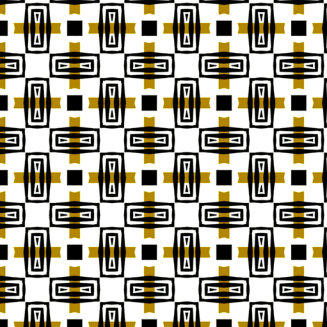 Mid Century Modern Mosaic fabric by stoflab on Spoonflower - custom fabric