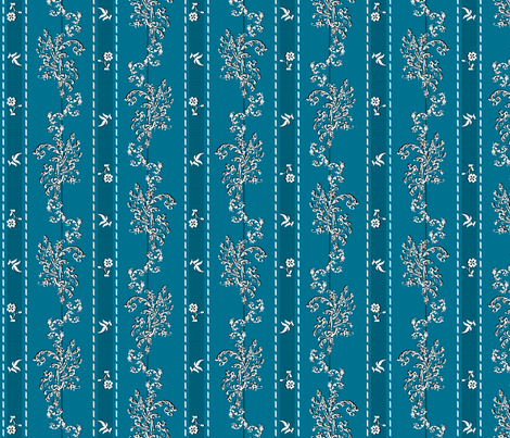 Wishing Fabric Turquoise - Phantom of the Opera fabric by mellymellow on Spoonflower - custom fabric
