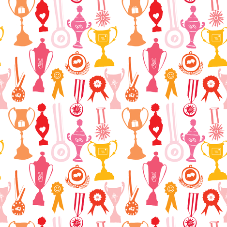 We are the champions fabric by studiojelien on Spoonflower - custom fabric
