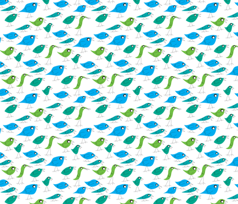 Cause I like birds fabric by studiojelien on Spoonflower - custom fabric