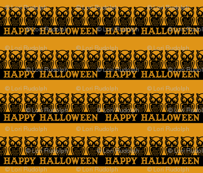 Happy Halloween ~ Owls (antique gold variant)