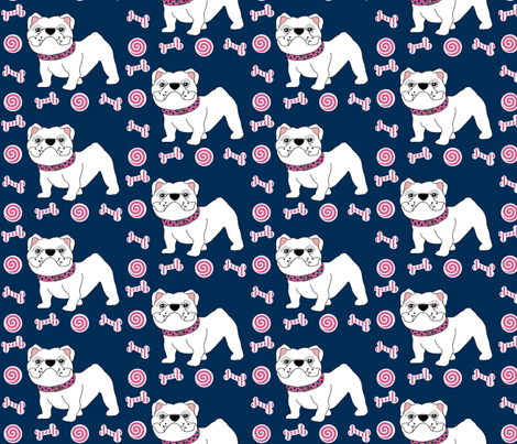 Victoria the Bulldog fabric by missyq on Spoonflower - custom fabric