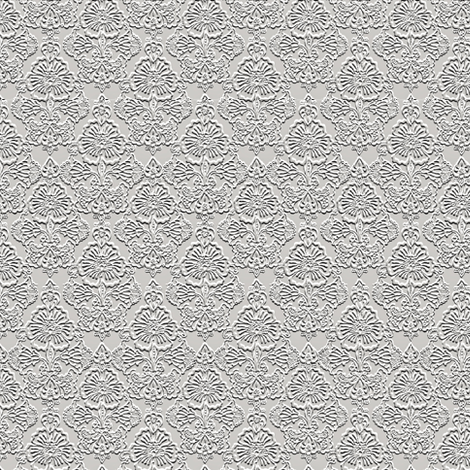 Faux Embossed Floral Repeat fabric by whimzwhirled on Spoonflower - custom fabric