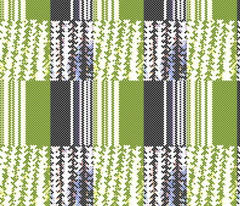 Old Danish Collection Green fabric by _vandecraats on Spoonflower - custom fabric