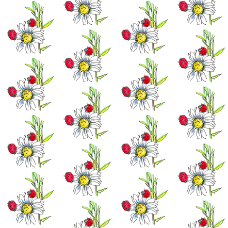 Ladybug Daisy fabric by countrygarden on Spoonflower - custom fabric