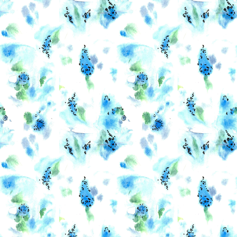 Flower Blues fabric by countrygarden on Spoonflower - custom fabric