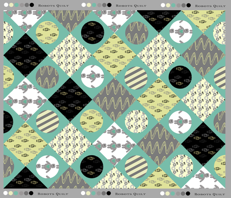 Robots Cheater Quilt fabric by kimberly-ann on Spoonflower - custom fabric