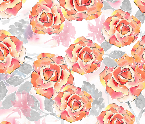 Texas Modern Big Roses fabric by jacinda on Spoonflower - custom fabric